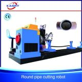 CNC Plasma Flame Cutting and Beveling Machine for Round Pipe