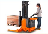 ISO 9001 1.5 Ton Electric Straddle Stacker with Lifting Height 1.6m to 5m