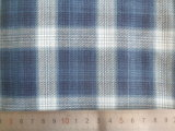 White/Blue 100% Cotton Big Checks Yarn Dyed Fabric