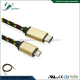 USB3.1 C Male to Micro 5p Male Cable Matel Head with Nylon Braid Ce RoHS
