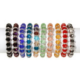 Bracelet Assortment, Crystal with Metal Lined Rhinestone Beads, Stretchable