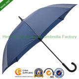 Automatic Windproof Promotional Golf Umbrellas with Imitation Leather Handle (GOL-0027FAL)