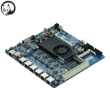Firewall Appliance Motherboard with D525, 6 LAN, DC/12V Power