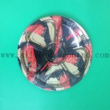 6 Compartment Round Floral Printed Disposable Plastic Sushi Tray
