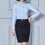 Women Formal Shirts Office Wear Ladies Model Blue Formal Shirt