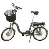 500W 48V Folding E Bicycle with Basket