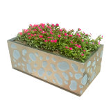 Outdoor Garden Decorative Rectangular Stainless Steel Flower Pot Planter
