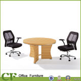 CF Simple Design Round Shaped MFC Wooden Reception Table