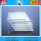 Super White High Quality 3mm Low Iron Ultra Clear Float Glass Price