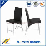 Bar Furniture Faux Leather Chrome Legs High Bar Chair