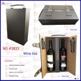 2 Bottle Leather Wine Suitcase with Wine Accessory (5833)