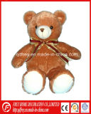 Plush Brown Teddy Bear with Ribbon Toy