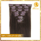 African American Clip in Human Hair Extensions Natural Brazilian Virgin Hair