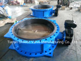 Dn1200 Ductile Iron Ggg50 Flange Butterfly Valve with Gearbox