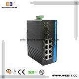 Gigabit DIN-Rail Mountble Poe Industrial Ethernet Switch (WB-GYP208)