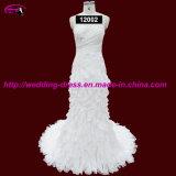 High Quality Chiffon Bridal Wedding Dress with Court Train