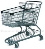 Black Silver Supermarket Shopping Trolley with High Quality