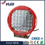 Super Bright 9inch 185W CREE LED Work Light Jeep SUV