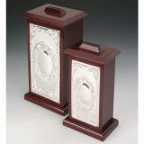 Silver Plated with Wooden Money Box (BW 10172 DLR, BW 10172 DMR)
