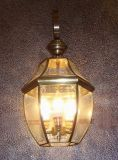 19030 Copper Wall Light with Glass Decorative