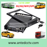 4 Cameras HD 1080P 4G 3G SD Card Automobile DVR for Mobile CCTV Video Surveillance system
