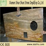 Indian Imperial Gold Granite Prefabricated Tops for Kitchen