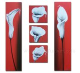 Huge Wall Art on Canvas Flower Painting (FL5-073)