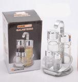 Transparent 4-PCS Soy Sauce Bottle Spice Rack Set (CS-050)
