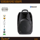 15′′ Mobile Party DJ Wireless Karaoke Trolley Bluetooth Active Speaker