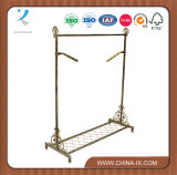 Bronze Vintage Style Rail Garment Stand with Shelf