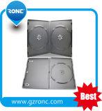 High Quality 7 mm Black Plastic Rectangle Single/Double Slim DVD Case