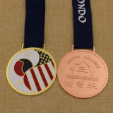 Round Plating Copper Medal Judo Metal Medal with Best Price