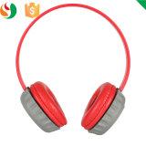 Adjustable Durable Plastic Red Headphone