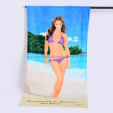 100% Microfiber/Cotton Custom Print Funky Beach Towel for Promotion Gift