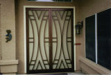 Front Entry Doors with Wrought Iron Exterior Doors (UID-D097)