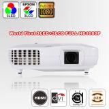 1920*1080 Wireless Portable Mini 3000 Lumens LED Projector (X2000VX)