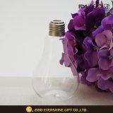 Handblown Light Bulb Shaped Glass Vase