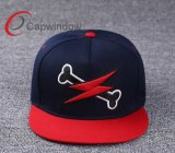 100% Cotton 3D Embroideried Snapback Cap for Leisure