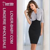 Lady Fashion Office Career Casual Dress (L36013-2)