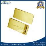 Plating Gold Metal Money Clip with Laser Logo