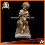 Bronze Sculpture Art Decoration Hot Cast Marble Base Figurine