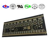 Gold Plating Fr4 PCB Board with Black Soldermask