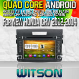Witson S160 Car DVD GPS Player for New Honda CRV 2012-2014 with Rk3188 Quad Core HD 1024X600 Screen 16GB Flash 1080P WiFi 3G Front DVR DVB-T Mirror (W2-M111)