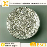 Electroplating Silver porcelain Plate for Home Decrotion