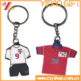 PVC Rubber Football Shirt Keychain for Promotional Gift