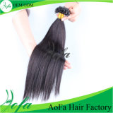 Silk Straight Human Virgin Hair Nail Hair Extension
