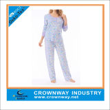 100% Cotton Interlock Women′s Pajama Sets