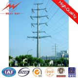 High Mast Steel Utility Pole Electric Power Poles 30000m Aluminum Conductor