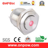 Onpow 16mm Illuminated Push Button Switch (GQ16H-10D/J/R/12V/S, CE, CCC, RoHS)