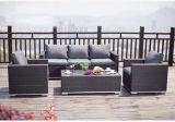 PE Rattan & Aluminum Outdoor Rattan Sofa